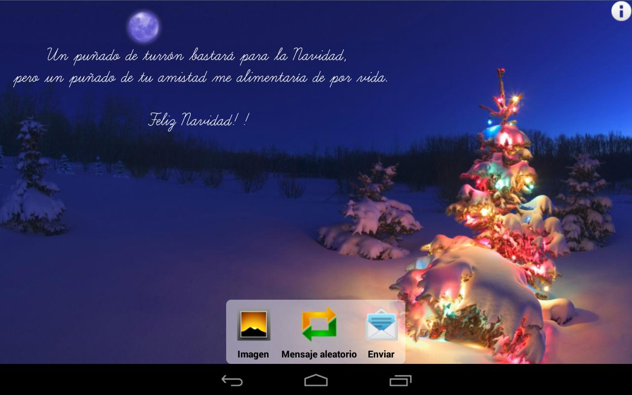 Navidad android aplicaciones fotos felicitaciones - Mensajes de feliz navidad ...