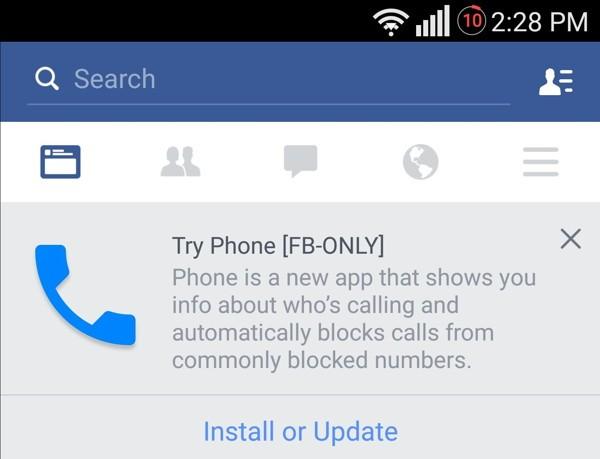 Filtran imagen de la nueva app de llamadas de Facebook