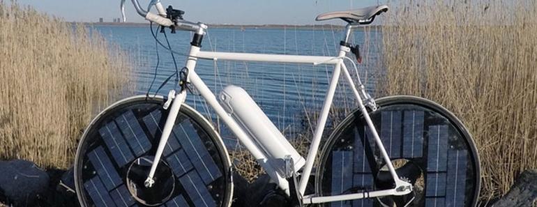 La bicicleta que funciona con la luz del sol