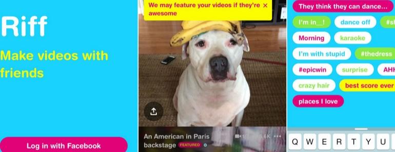 Riff aplicación de Facebook para hacer videos en grupo