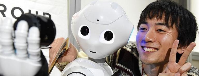Pepper el androide que se agotó luego del primer minuto de venta