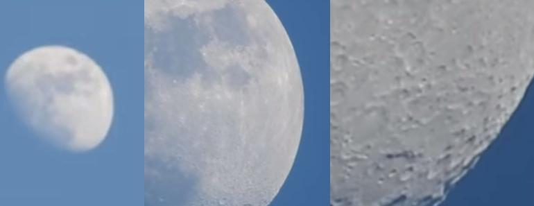 El zoom de una cámara conquista los cráteres de la Luna
