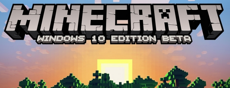 Minecraft Windows 10 Edition sale con Windows 10 y es gratuito