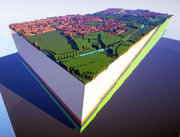 Minecraft mapas reales de la geografía de Reino Unido
