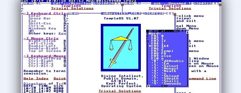 TempleOS sistema operativo para hablar con Dios