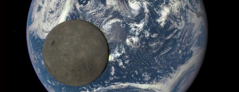 Fotografían a la Luna pasando delante de la Tierra y mostrando su cara oculta