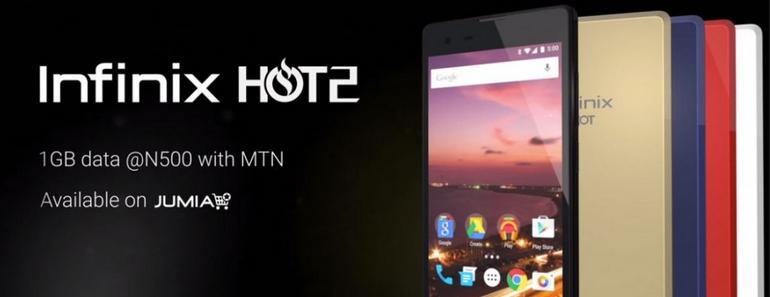 Smartphone Hot 2 Google terminal bajo coste para África